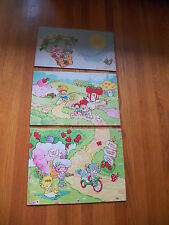 Vintage Child Strawberry Shortcake Bookcase Color Inserts Wall Display SSC
