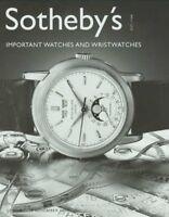 Sotheby Important Watches & Wristwatches Patek Auction Catalog 2002