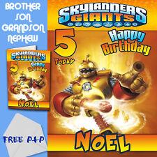 Skylanders Gigantes-Personalizado Cumpleaños Tarjeta hijo hermano sobrino nieto