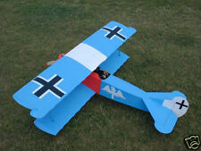 Giant 1/5 Scale German WW-I Fokker D.VII Biplane Plans, Templates, Instruc 75ws