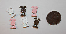 BUNNY RABBIT Eyelets x6, Cards/Scrapbooking, Easter, Animals, Baby