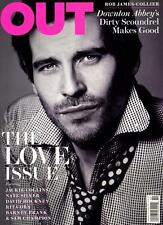 Out Magazine 2/13 gay Love Issue Downtown Abbey ROB JAMES-COLLIER