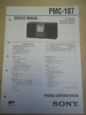 Sony Service Manual~PMC-107 Component System~Original~Repair