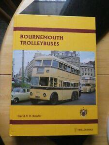 Bournemouth Trolleybuses by David RH Bowler, 2001 edition hardback book VGC
