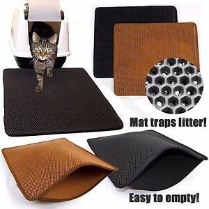 Cat Litter Tray Mat Large Eva Two Layers Kitten Scatter Control Floor Easipet