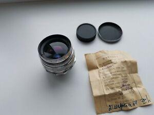 1963 Silver Mir-1 Grand Prix 37mm f/2.8mm M39 Russian SLR lens