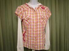 Panhandle Slim Juniors Casual Work School Hoodie Shirt Top Size L