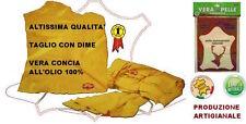 VERA PELLE DI DAINO SCAMOSCIATA 100%NATURALE ASCIUGATURA AUTO MOTO CAMION 58x39