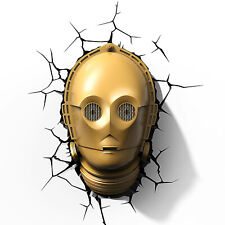 Household Wall Decoration Star Wars C-3PO Head/Face 3D FX Deco Night LED Light