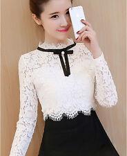 New Elegant Korean Women Lady Slim Splice Lace Evening Party Cocktail Mini Dress