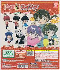 Ranma 1/2 Gashapon Swing Strap Complete Set (5) Bandai Rumiko Takahashi