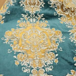 Buckingham - Imperial Pattern Velvet Upholstery Fabric by the Yard - Royal
