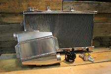 Aluminium Water To Air Intercooler Kit Type 2 W/ Billet Inline Filler Neck