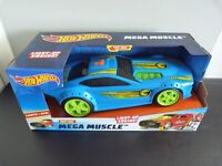 Hot Wheels Mega Muscle Car Drift Rod With Light Up Engine & Sounds 33cm - New