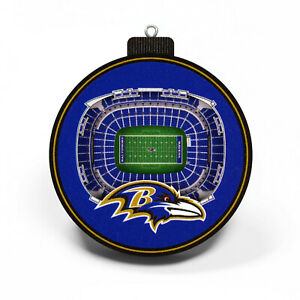 NFL Baltimore Ravens Tree Decoration 3-D Staduim Pendant Ornament Christmas Tree