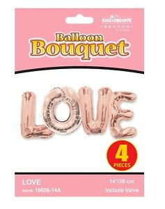 """14"""" Letter Rose Gold LOVE Air Filled Balloons Wall Decor Decoration"""