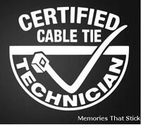 CABLE TIE TECHNICIAN Car Window Bumper JDM EURO VW DUB Vinyl Decal Sticker