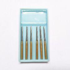 6pcs/box Dental Endodontic Endo 151Z Burs FG, Tungsten Carbide Burs Zekrya 25mm