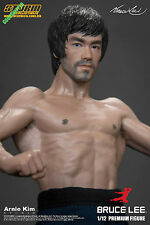 READY STORM COLLECTIBLES BRUCE LEE 75TH ANNIVERSARY PREMIUM 1/12 HEAD X2 NEW