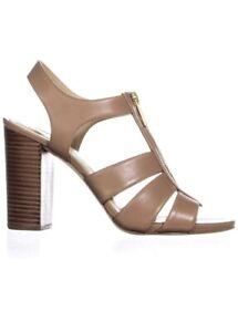 Women MK Michael Kors Damita Sandal Leather Cahsew
