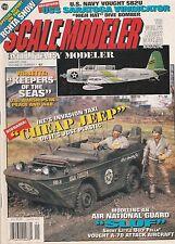 Scale Modeler Jan 1996 - Vought SB2U Vindicator - A7D Intruder - GPA Jeep