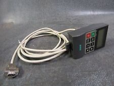 SIEMENS MICROMASTER OPM2 INPUT DISPLAY PAD & CABLE  MODEL: 6SE3290-0XX87-8BF0