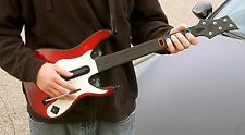 PS3 Guitar Hero 5 GUITAR w/Dongle receiver rock band beatles GH5 playstation-3 4