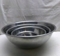 Stainless Steel 1 to 5 Qt Mixing Prep Chips Serving Storage Bowl Set 4 pcs