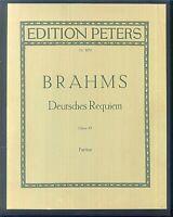 Brahms - Deutsches Requiem - Partitur - gebunden
