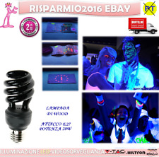 2X Lampadina Lampada UV E27 28W LUCE di Wood Discoteca Feste DJ NEON Nera