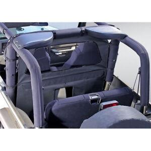 For Jeep Wrangler Cj Yj Tj 80-06 Roll Bar Curtain Black Denim  X 13552.15