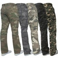 Kruze Militaire pour Hommes Pantalon Combat Camouflage Cargo Armée Décontracté