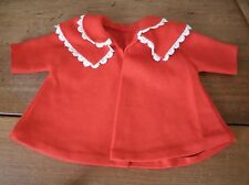Vintage Handmade Baby Infant Doll Girl Cape - Red (BC36)