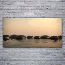 Wandbilder Glasbilder Druck auf Glas 120x60 Steine Wasser Kunst