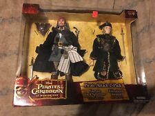 New Pirates of the Caribbean Captain Jack Sparrow & Elizabeth Swann Dolls