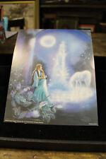 Gina Femrite Collectibile Unicorn Maiden Print 8x10 Wall Carnival Prize 1991