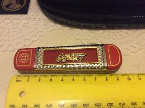 COLLECTABLE FRANKLIN MINT AHRENS-FOX R-K-4  FOLDING KNIFE WITH POUCH