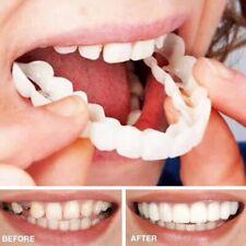 """2Pcs/Set Snap On Smile Comfort Fit Flex Fake Teeth Top Cosmetic Veneer Denture"""""""