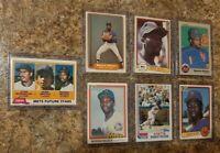 (7) Mookie Wilson 1981 1982 1983 Topps Fleer Donruss Rookie Card Lot RC Mets