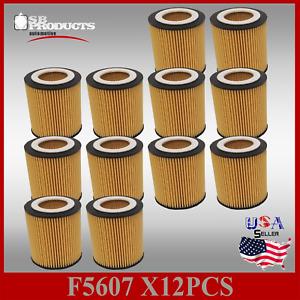 (1case OF 12 PCS) F5607 OIL FILTER (MADE IN KOREA) BMW 1,3,4,5,6,7 X1 X3 X5 X6