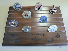 Military Challenge Coin Holder 9x12, Fly Army, Walnut