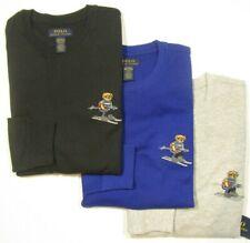 Polo Ralph Lauren Men's Ski Bear Graphic Waffle Knit Thermal Long Sleeve Shirt