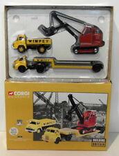 Corgi 1/50 Scale 31008 Bedford S Low Loader With Luffing Shovel & Trader Tipper