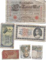 LOT OF1910 1000 MARK GERMANY REICHSBANKNOTE & REPUBLIKA CESKOSLOVENSKA KORUN