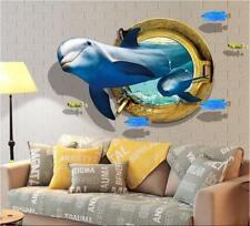 Wandtattoo Delphin 3D XXL Wandsticker Sticker Meer Unterwasserwelt Delfine Marin