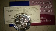 1,50 euros Francia 2004 PROOF### COMPLETA ####### entente cordiale ///// rara