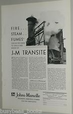 1929 Johns-Manville ad, Asbestos Transite Lumber