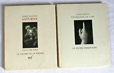 ANDRÉ MALRAUX, SATURNE GOYA & PSYCHOLOGIE de l'ART, 1949 et 1950, NRF et SKIRA