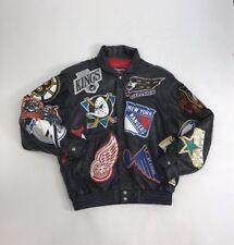 JEFF HAMILTON 1995 NHL Hockey Leather Men's Jacket Sz XL