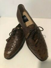 Traversi, Full quill ostrich two eyelet Derby shoes Havana brown, size 9 ½